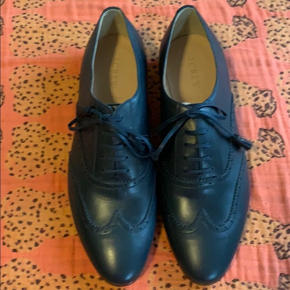 J. Crew Shoes - New Jcrew Navy Tie Oxfords